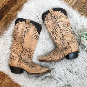 Nocona Animal Print Cowgirl Boots